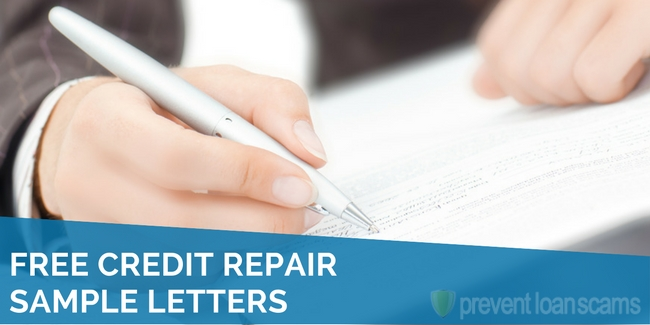 Free Credit Repair Sample Letters 2019 Updated Templates
