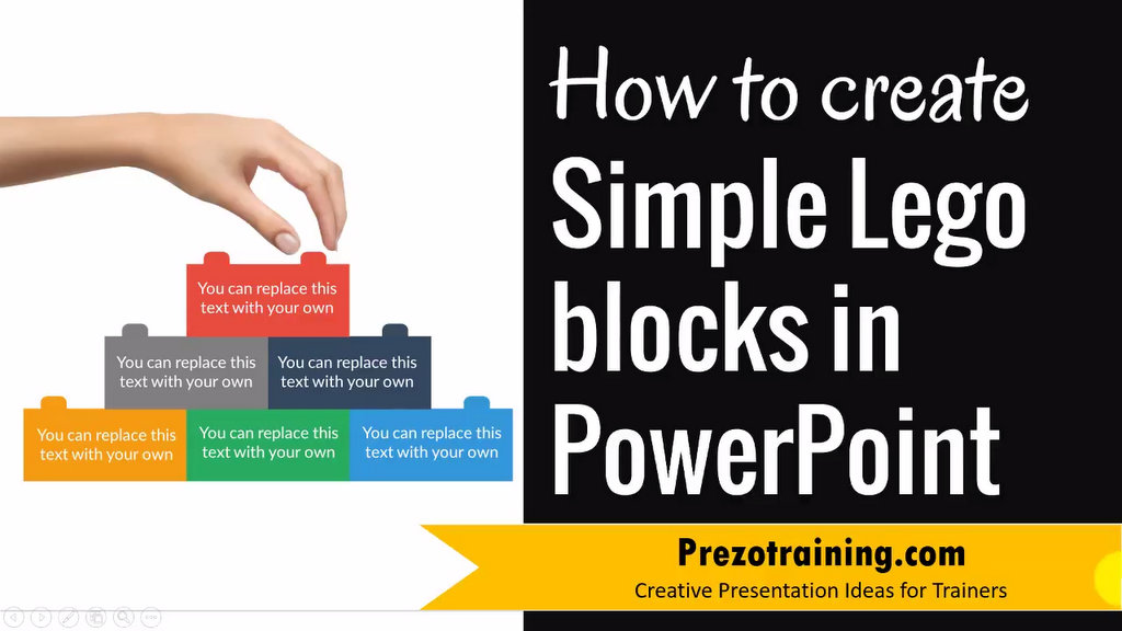 PowerPoint Graphic Design Ideas \u2013 How to Create Lego Block