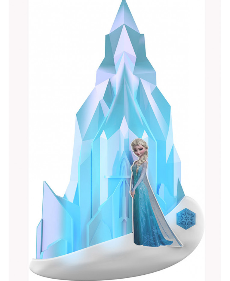3d Effect Bookcase Wallpaper Disney Frozen Elsa 3d Wall Light Bedroom Night Light