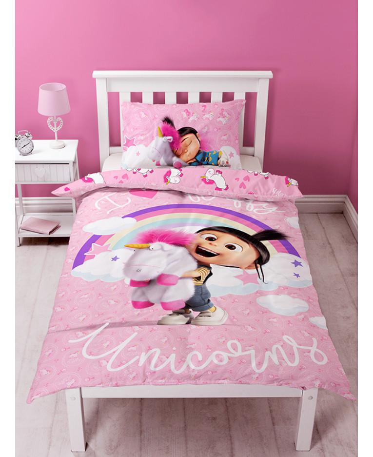 Baby Girl Nursery Wallpaper Borders Despicable Me Daydream Fluffy Unicorn Single Panel Duvet