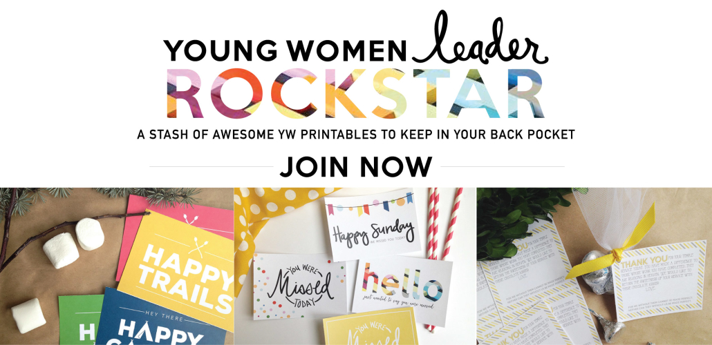Young Women leader Rockstar Subscription | Over $100 of LDS Young Women printables for just $10 | LDS art | Prickly Pear Design Co.