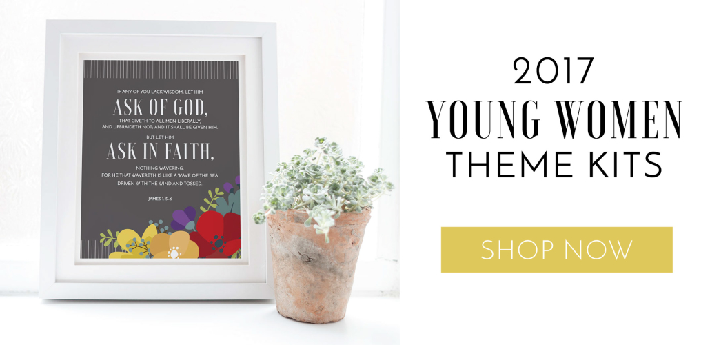 2017 Young Women Theme Kits | Grey Floral | LDS Printables | Prickly Pear Design Co.