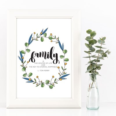 FREE Relief Society Visiting Teaching Printable for October – The Family is Ordained of God