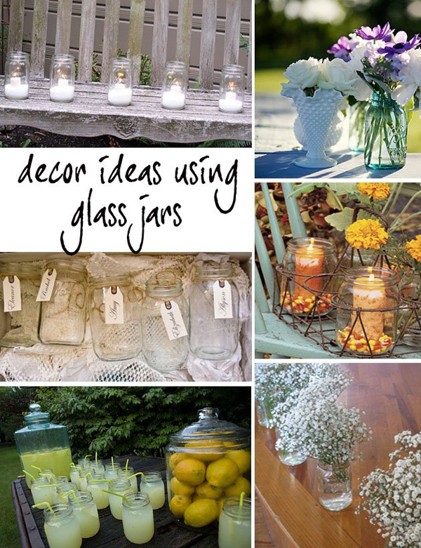 glass jar decor wedding primadonnabride