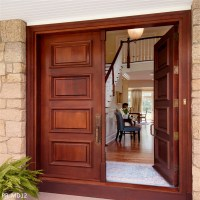 Wooden Door For Bedroom / Carved Solid Wood Door / Solid