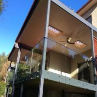 Frameless Standoff Glass Railing-for Outdoor Balcony ...