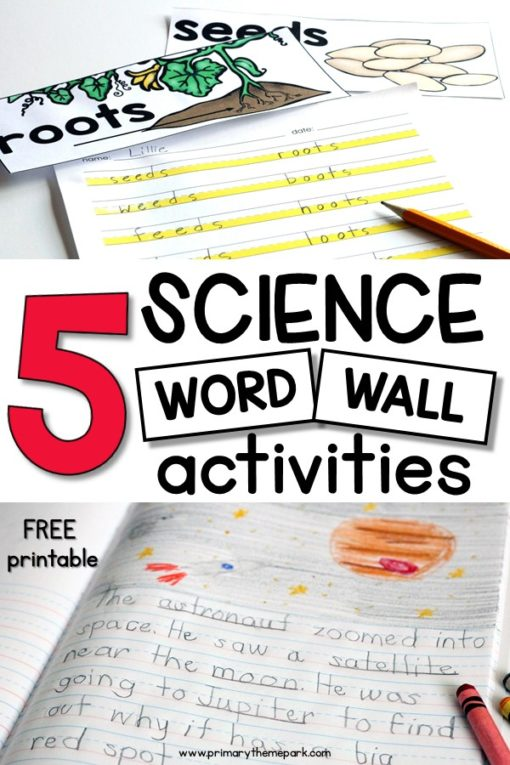 Science Word Wall Ideas - Primary Theme Park