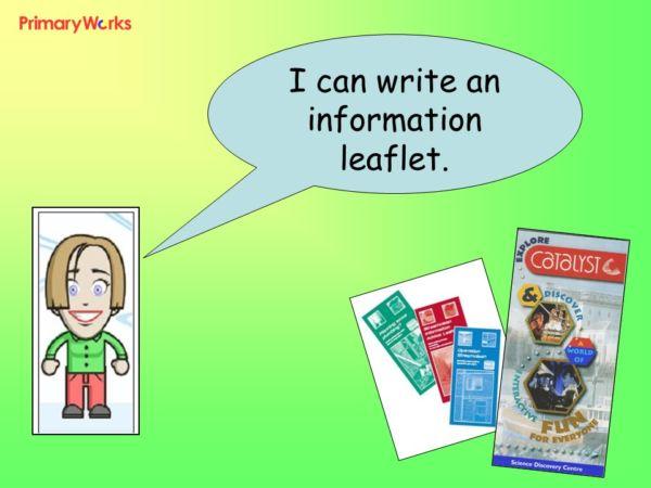 Writing Information Leaflet teaching children in KS1  KS2 non