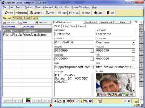 address book database software