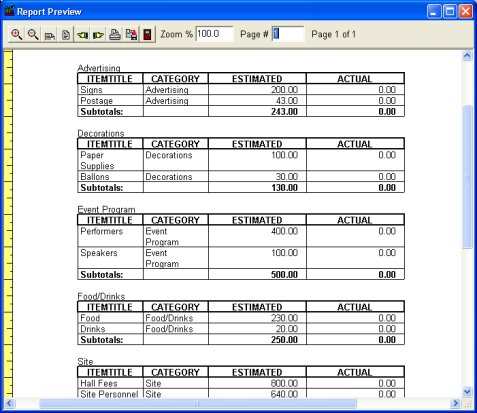 Budget Organizer Deluxe simple budget manager, database software - simple budget