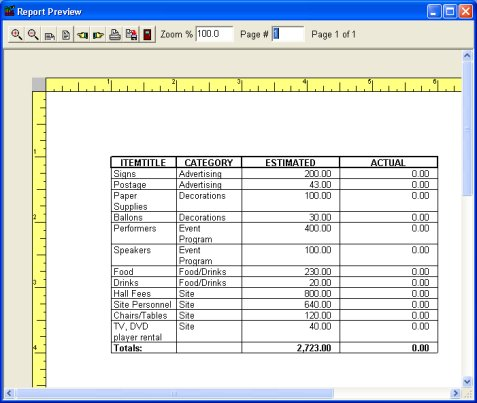 Budget Organizer Deluxe simple budget manager, database software