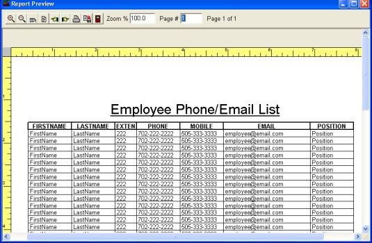 employee lists - Doritmercatodos