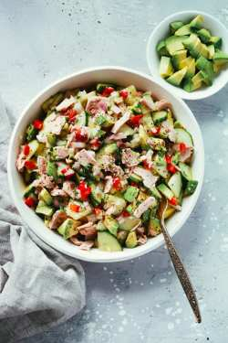 Pleasing And To Bring Towork Super Easy Avocado Cucumber Tuna Salad Primavera Kitchen This Is So Quick To Put Toger That Going To Become A Weekly Staplearound Here