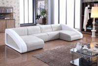Contemporary Style Leather Curved Corner Sofa Oakland ...