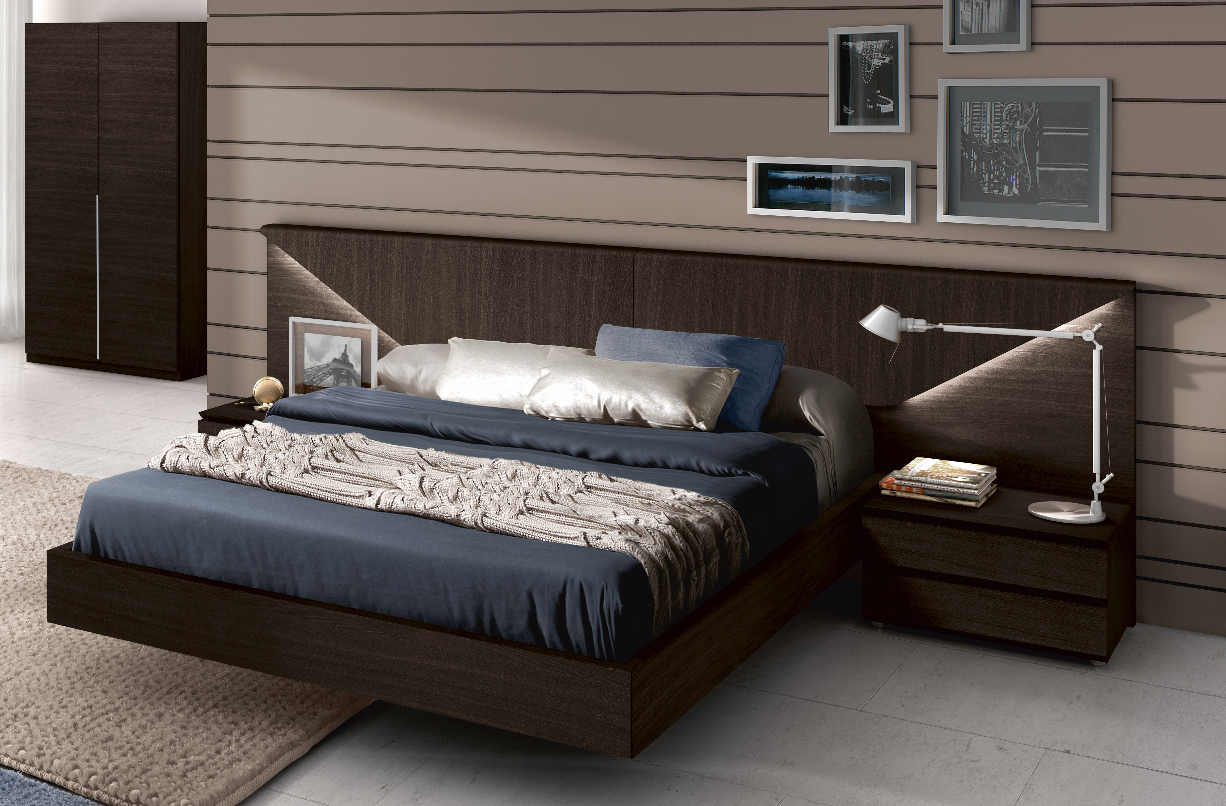 Made In Spain Wood Modern Platform Bed Indianapolis