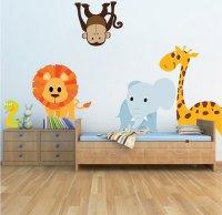 Nursery Zoo Wall Decal - Animal Wall Decal Murals ...
