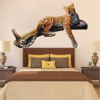 Leopard Wall Mural Decal - Animal Wall Decal Murals ...