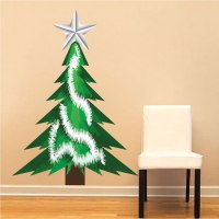Best 28 - Christmas Tree Wall Mural - christmas tree wall ...