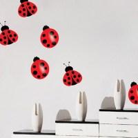 Nursery Ladybug Decal - Nursery Wall Decal Murals ...