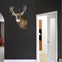 Deer Head Wall Mural Decal - Animal Wall Decal Murals ...