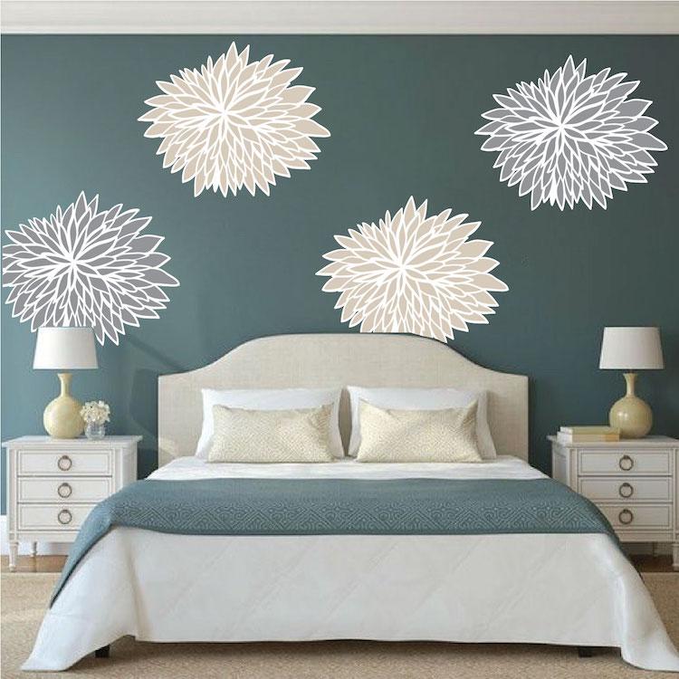 Bedroom Flower Wall Decals