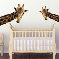 Leaning Giraffe Wall Mural Decal - Animal Wall Decal ...