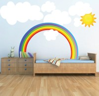 Rainbow Wall Decals - Weather Wall Decal Murals - Primedecals