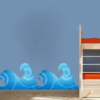 Wave Mural Decal - Nursery Wall Decal Murals - Primedecals