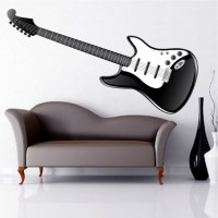 Electric Guitar Wall Mural Decal - Music Wall Decal Murals ...
