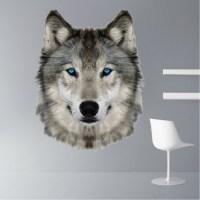 Wolf Head Wall Mural Decal - Animal Wall Decal Murals ...