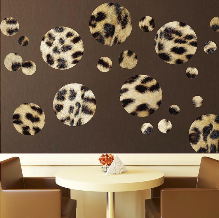 Leopard Animal Print Wallpaper Cheetah Animal Print Polka Dot Decals Wall Stickers