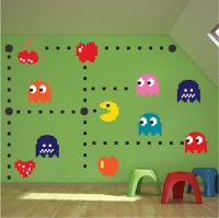 Pac Man Wall Decal - Video Game Wall Decal Murals - Kids ...