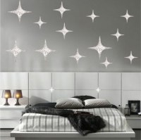 Silver Stars Wall Decals - Christmas Murals - Primedecals
