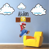Super Mario Bros Clouds Wall Decal - Bedroom Stickers ...