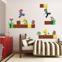 Super Mario Bros Wall Decal - Video Game Wall Decal Murals ...