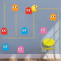 Modern Pac Man Wall Decal