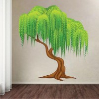 Weeping Willow Tree Mural Decal - Tree Wall Decals - Large ...
