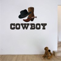 Cowboy Wall Decal - Wild West Stickers - Primedecals