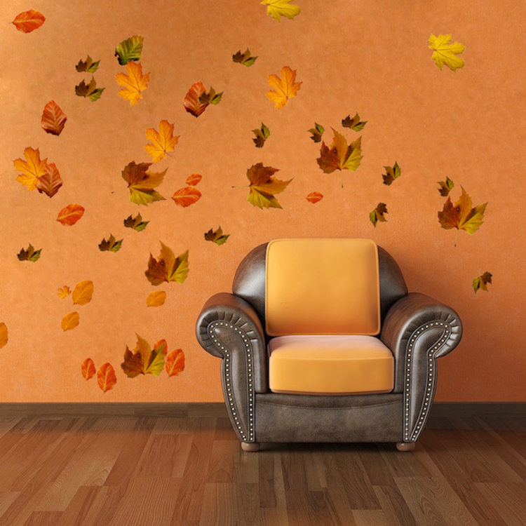 Fall Leaves Falling Wallpaper Autumn Leaves Wall Mural Decal Seasonal Wall Decal