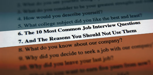 The 10 Most Common Job Interview Questions And The Reasons You