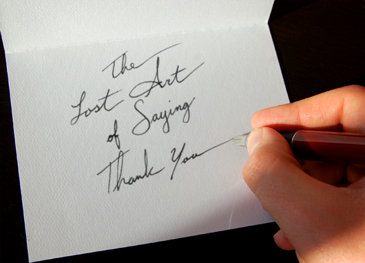 The Importance of Writing a Thank You Note - thank you note
