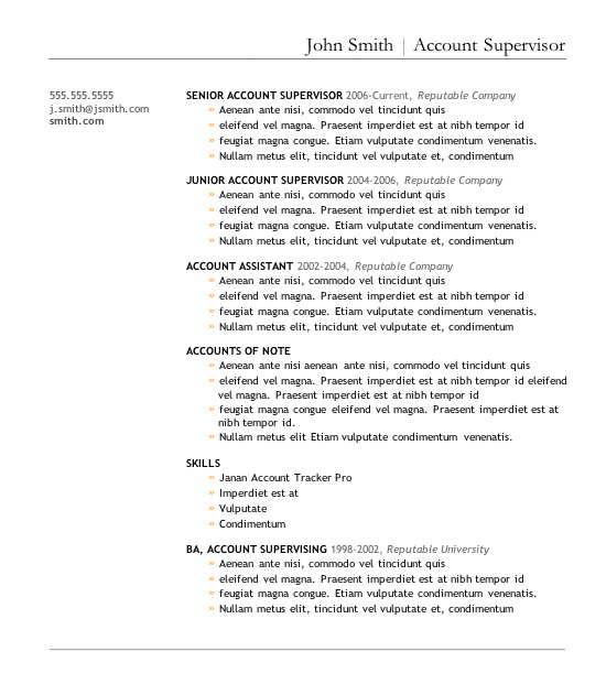 7 Free Resume Templates - Microsoft Word Resume Templates