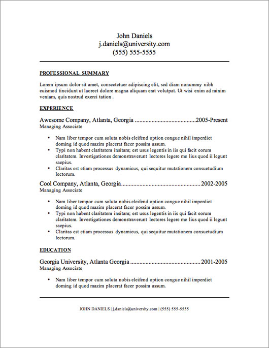 resume layouts free - Ozilalmanoof