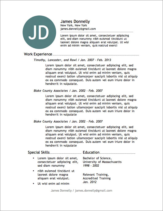 american resume template download - Maggilocustdesign