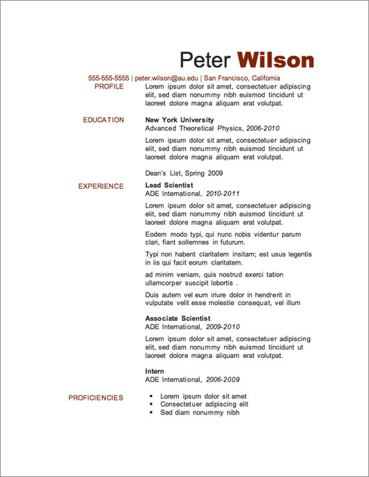 Free Downloadable Cv Templates Nz - wwwbuzznow