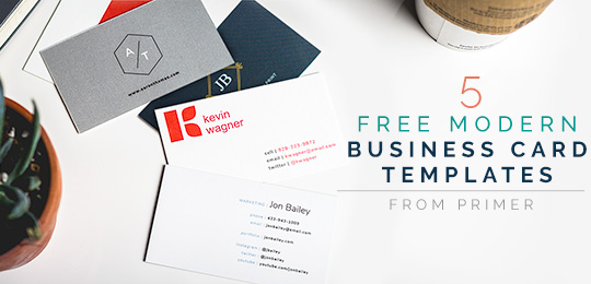 5 Free Modern Business Card Templates + Why Business Cards are Even
