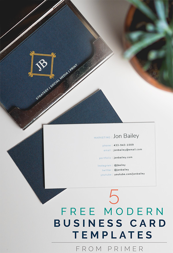 5 Free Modern Business Card Templates + Why Business Cards are Even - free cards templates