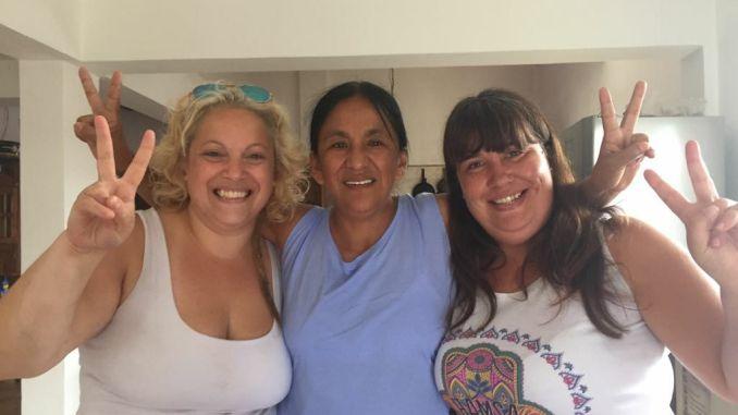 Milagro Sala con docentes de Hurlingham