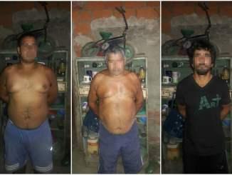Tres de los diez detenidos en los allanamientos realizados en La Matanza
