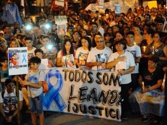Marcha por Alcaraz